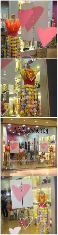 Escaparates tienda Axxessori. Temporada San Valentín 2012 por storewindowsdr.