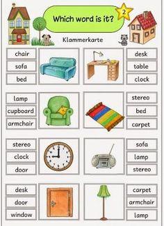 "Ideenreise: Klammerkarten ""At home/furniture"""