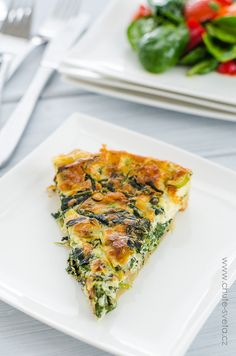 špenátový quiche Healthy And Unhealthy Food, Healthy Life, Sunday Brunch, Sandwich Recipes, Quiche, Baking Recipes, Food And Drink, Meals, Dinner