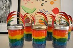 rainbow playdough ~ cute party favor idea by valarie