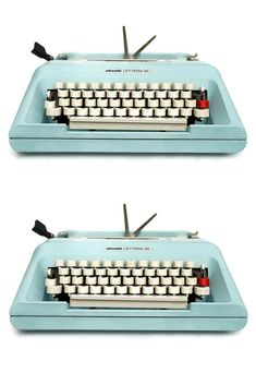 Working Retro and Vintage typewriters for sale. We sell Vintage typewriters with free international delivery on every typewriter. Modern Typewriter, Antique Typewriter, Working Typewriter For Sale, Kelly Wearstler, Olivetti Typewriter, Plywood Furniture, Vintage Typewriters, I Cup, Vintage Design