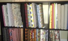 Fabric bolts - organizing sewing and craft room