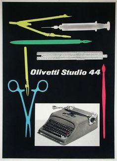 Olivetti Studio 44 by Pintori, Giovanni 1955 #TuscanyAgriturismoGiratola
