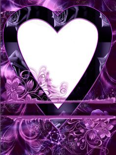 Purple Abstract Heart Transparent PNG Photo Frame