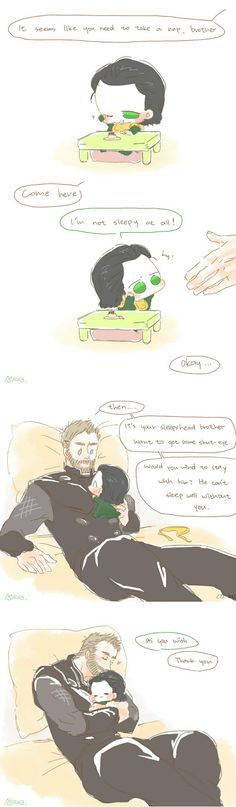 Sweet dreams || Thor & Loki || Cr: Alexa