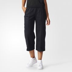 Worn by sailors and fashionistas worldwide, these sailor pants get the adidas Originals treatment. The women's bell-bottomed pants land just above the ankle. Berlin-inspired and made of soft mesh fabric, they have a contrast stitch down the middle and fea.  $65