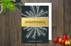 Holiday Non-Photo Card by aticnomar on Creative Market
