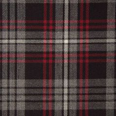 AULD LANG SYNE GREY GL142 100% Wool 10.5oz Tartan. Woven in Yorkshire by Marton Mills. Auld Lang Syne, Wool Fabric, Design Show, Yorkshire, Plaid Scarf, Tartan, Swatch, Pure Products, Grey