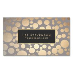 Stylish Gold Circles Beauty Salon and Spa Business Card. I love this design! It is available for customization or ready to buy as is. All you need is to add your business info to this template then place the order. It will ship within 24 hours. Just click the image to make your own!