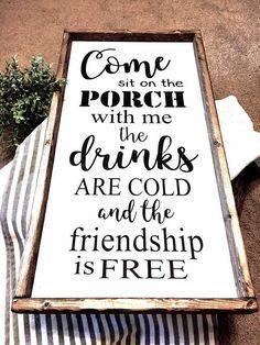 Come sit on the Porch    Farmhouse Sign   Porch Sign   Rustic Decor   Home Decor   Back Porch Sign   Farmhouse Style Sign #farmhousestyle #farmhousedecor #porch #porchdecor #farmhouseporch #affiliate