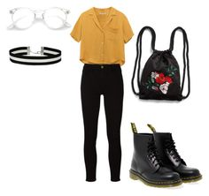it's a look by roger-chickenstein on Polyvore featuring polyvore Frame Dr. Martens Monki Miss Selfridge fashion style clothing
