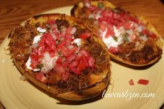 Low Carb Mexican Spaghetti Squash Boats shared on https://facebook.com/lowcarbzen