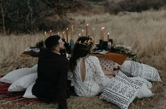 An Intimate Elopement Among the Ruins // tablescape in the ruins