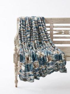 Seascape Lace Knit Blanket Pattern
