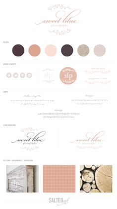 Small Business Branding by Salted Ink Digital Design Co. moodboard, style guide
