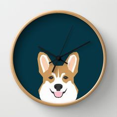 Teagan - Corgi Welsh Corgi gift phone case design for pet lovers and dog people Wall Clock by PetFriendly - $30.00