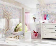 Papel Pintado Rasch Bambino 135107. ¡Ideas para decorar la habitación de sus hijos por menos de 30 EUROS! Ideales tanto para los cuartos de niños como para las habitaciones de niñas.