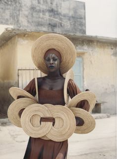 photo by Sibylle Bergemann (1941-2010).  Fashion of the Senagalese designer Oumou Sy, 5th International Fashion Week SIMOD (Semaine Internationale de la mode de Dakar), Dakar, Senegal, Africa June 2001