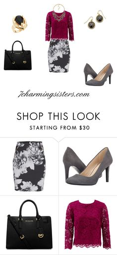 """""""9-5"""" by paula-charming on Polyvore featuring Nine West, MICHAEL Michael Kors, Nicole Miller, women's clothing, women, female, woman, misses and juniors"""
