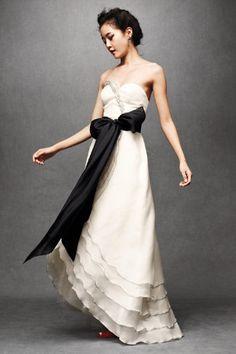 Black & white wedding dress.