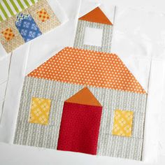Block 84 - Large Schoolhouse. A Patchsmith Schoolhouse - large enough for a quilt.