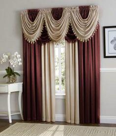 Hyatt Curtain Set (Purple Plum/Antique Taupe)