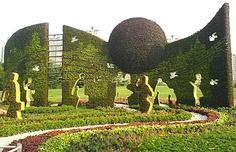 Stunning Beijing Olympic Topiary Gardens