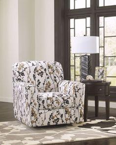 Mykla - Shitake Fabrics Swivel Accent Chair
