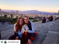 #Repost @christienoel Learning how to live that Florentine lifestyle from the pasta queen herself.  #florence #sistersabroad #ispyapi