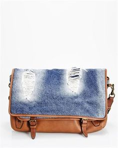 D & G BNWT Leather & Denim Messenger Bag- Made in Italy 1