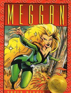 Meggan - 1993 X-Men: Series 2 by Skybox Marvel Comic Universe, Marvel X, Comics Universe, Marvel Heroes, X Men, Marvel Cards, Marvel Women, Marvel Comic Character, Marvel Entertainment