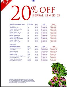 20% Off Herbal Remedies in our big beautiful sale starting today! Shop at uk.nyrorganic.com/shop/sarah_hannant