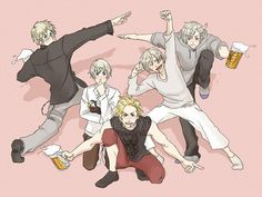Hetalia (ヘタリア) - The Nordic 5 (北欧ファイブ) - aaaand they're drunk (-.-;)