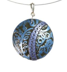 Polymer Clay Necklace  Polymer Clay Jewelry  by mindfulmatters, $20.00