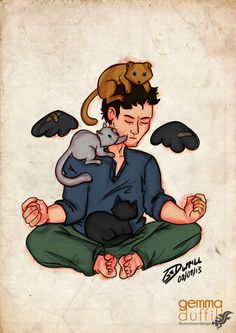 2014 Cas with Cats by *GemmaDuffill on deviantART