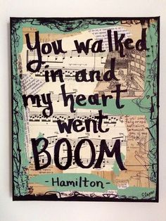 Hamilton music art painting broadway musical by LexiconOfLove