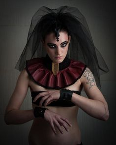 ON HOLD Gothic Red Leather Victorian Steampunk Collar, Neck Corset on Etsy, $104.83