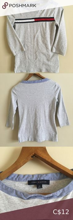 Tommy Hilfiger Women's Size Small Grey Long Sleeve ⭐️ cotton ⭐️ buttons on either sides of collar ⭐️ sleeve ⭐️ used, great condition! Tommy Hilfiger Women, Plus Fashion, Fashion Tips, Fashion Trends, Long Sleeve Tees, Buttons, Grey, Sleeves, Closet