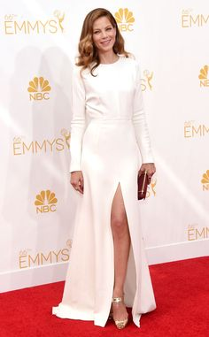 Michelle Monaghan from 2014 Emmys: Red Carpet Arrivals | E! Online in Giambattista Valli Couture