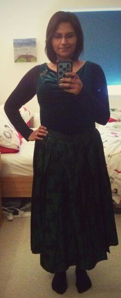 Velvet top, baroque full length skirt