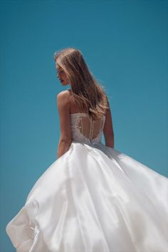"""Beautiful """"Lily"""" gown from our S/S 2021 bridal collection. We invite you all to see the entire new collection in our website: www.ohadkrief.com Couture Wedding Gowns, Wedding Dresses, Young Fashion, Bridal Collection, Evening Gowns, Ball Gowns, Lily, Formal Dresses, Invite"""