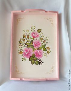 Decoupage Glass, Decoupage Vintage, Iphone Wallpaper Vintage Retro, Recycled Crafts, Diy Crafts, Decoupage Printables, Hand Painted Fabric, Painted Trays, Shabby Chic Pink