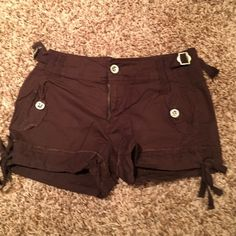 Brown mudd shorts Gently used. Lightweight and great for summer. Mudd Shorts