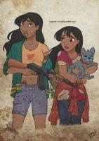 The Walking Disney : Nani, Lilo and Stitch by Kasami-Sensei