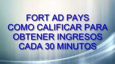 Fort Ad Pays-Ingresos|Como calificar para obtener ingresos cada 30 minutos Derrota la Crisis Afiliados: (En construccion) Registro en: https://www.fortadpays...