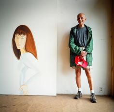 Alex Katz photographed in his studio in Linconville, Maine.