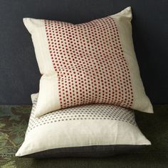 Dot Pillow Cover | west elm. Maybe simulate with piecing, made to look like creme pillow with sleeve on