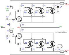 Three-Technologies Hybrid Amplifier (com imagens) Electronics Components, Diy Electronics, Electronics Projects, Basic Electronic Circuits, Electronic Schematics, Diy Amplifier, Power Supply Circuit, Radio Design, Old Computers
