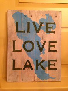 LIVE LOVE LAKE Pallet Sign by designsatdaybreak on Etsy, $40.00