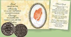 Pocket Token - One Day At A Time Courage To Change, Special Words, Catholic Gifts, Inexpensive Gift, All Gifts, Pocket